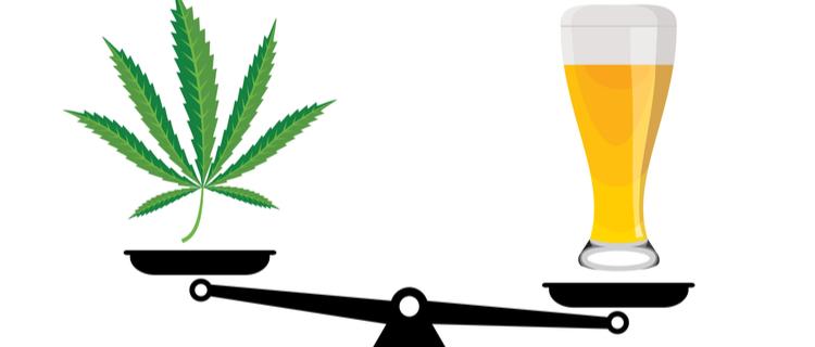 大麻はアルコールより安全?3つの観点から徹底比較