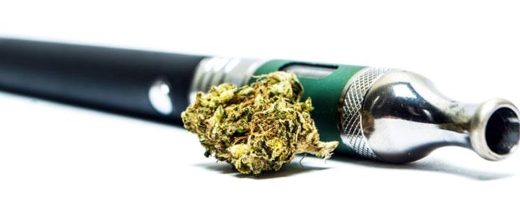 大麻のバッズとVAPE