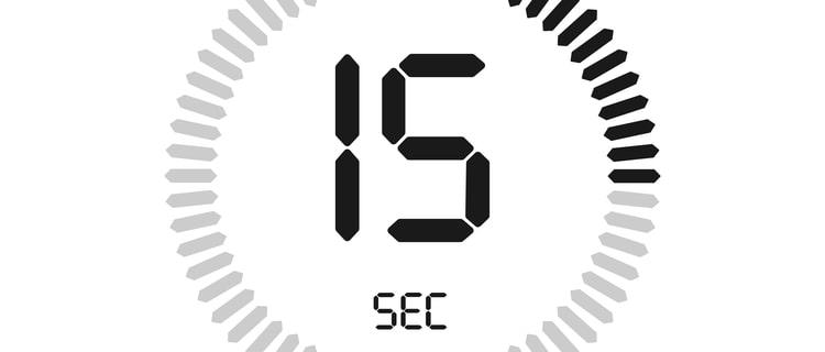 15秒のカウント