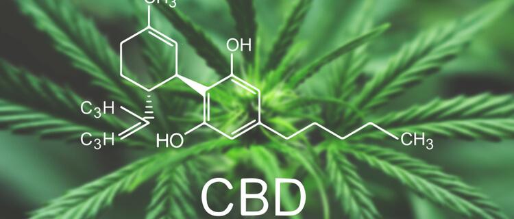 CBDの構造式と大麻