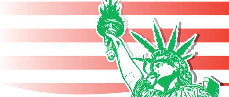 大麻リメイクの自由の女神